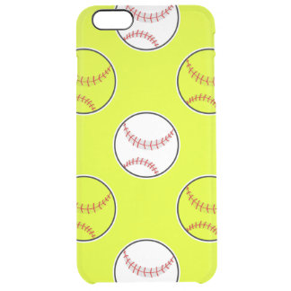 Green Softball Pattern Uncommon Clearly™ Deflector iPhone 6 Plus Case