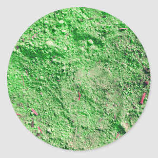 Green soil classic round sticker