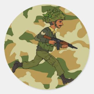 GREEN SOLDIER PAKISTAN CLASSIC ROUND STICKER