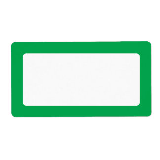 Green solid border blank label