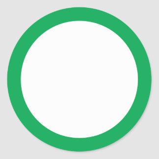 Green solin border blank sticker