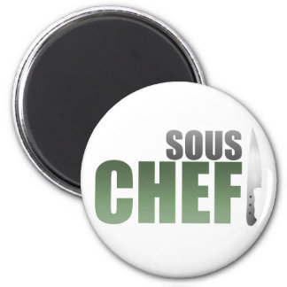 Green Sous Chef 2 Inch Round Magnet