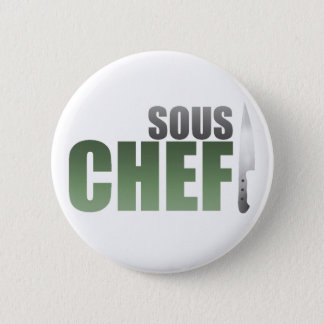 Green Sous Chef Pinback Button