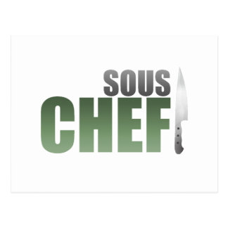 Green Sous Chef Postcard