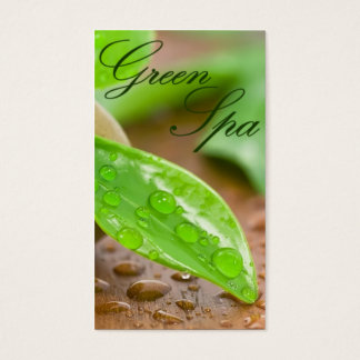 Green Spa Business Card