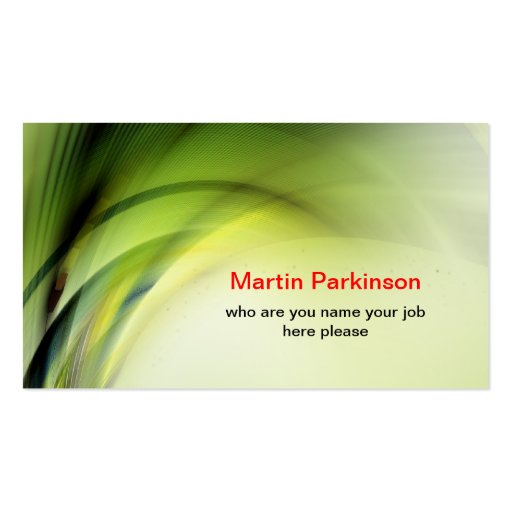 green space business card