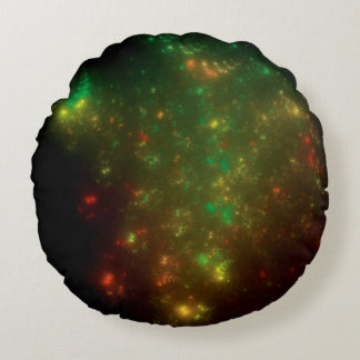 Green Space Round Pillow