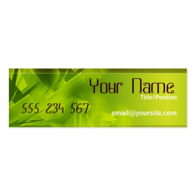 GREEN SPACE Skinny Profile Business Card Templates