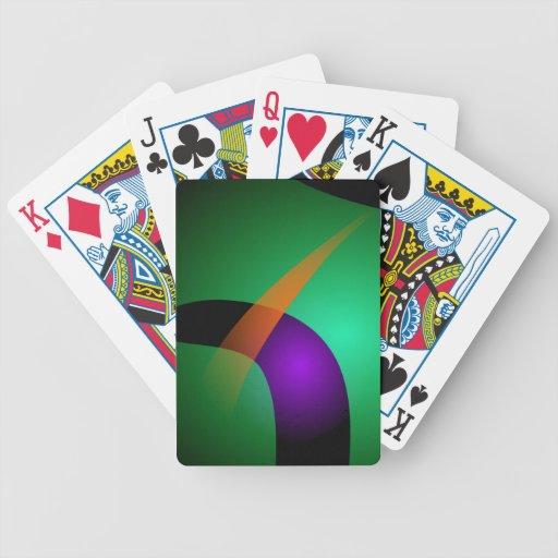 Green Spaceship Playing Cards