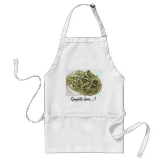 Green spaghetti adult apron