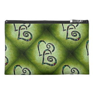 Green Sparkle Hearts Bag