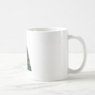 GREEN Sparkle Triangle Pyramid NVN237 NavinJOSHI Coffee Mug
