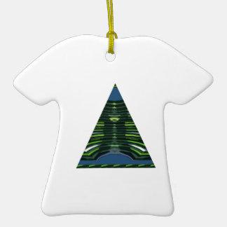 GREEN Sparkle Triangle Pyramid NVN237 NavinJOSHI Christmas Tree Ornaments