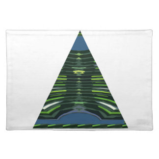 GREEN Sparkle Triangle Pyramid NVN237 NavinJOSHI Placemat