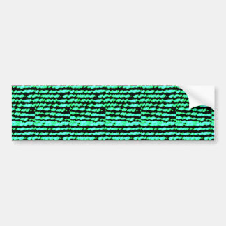 GREEN SPARKLE WAVE : Customized gifts Bumper Sticker