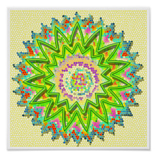 GREEN Sparkling Soothing Healing Chakra Poster