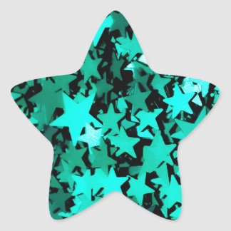 Green Sparkly Stars Stickers