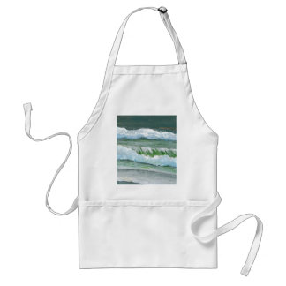 Green Sparkly Waves - CricketDiane Ocean Art Adult Apron