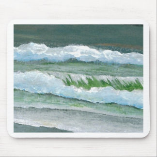 Green Sparkly Waves - CricketDiane Ocean Art Mouse Pads