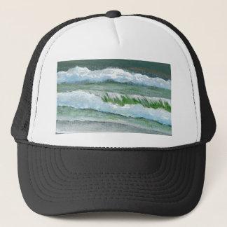 Green Sparkly Waves - CricketDiane Ocean Art Trucker Hat