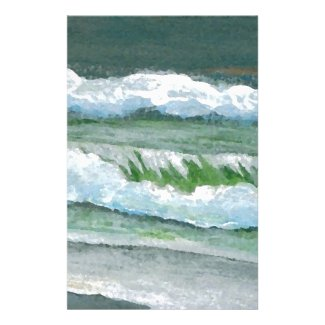 Green Sparkly Waves Ocean Sea Beach Decor Gifts