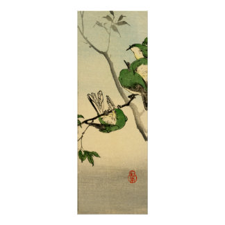 Green Sparrows no.1 Poster