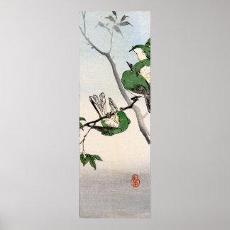 Green Sparrows no.2 Poster