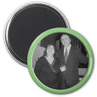 green speckle frame 2 inch round magnet