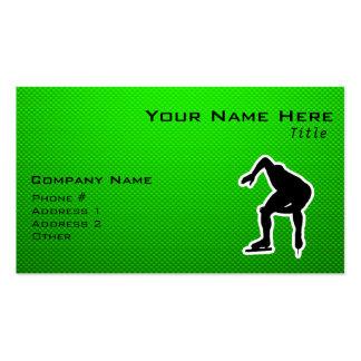 Green Speed Skater Business Card
