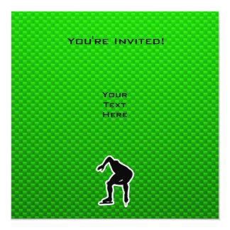 Green Speed Skater Card
