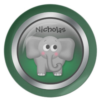 Green Sphere - Elephant 10 Personalized Plate
