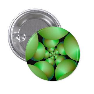 Green Sphere Spiral Button