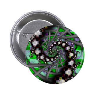 Green Sphere Spirals Pin