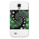Green Sphere Spirals Samsung Galaxy S4 Cover