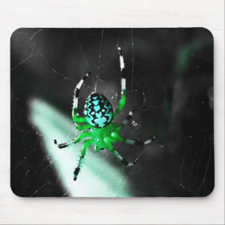 Green Spider Mouse Pad