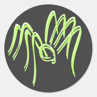 Green Spider Stickers