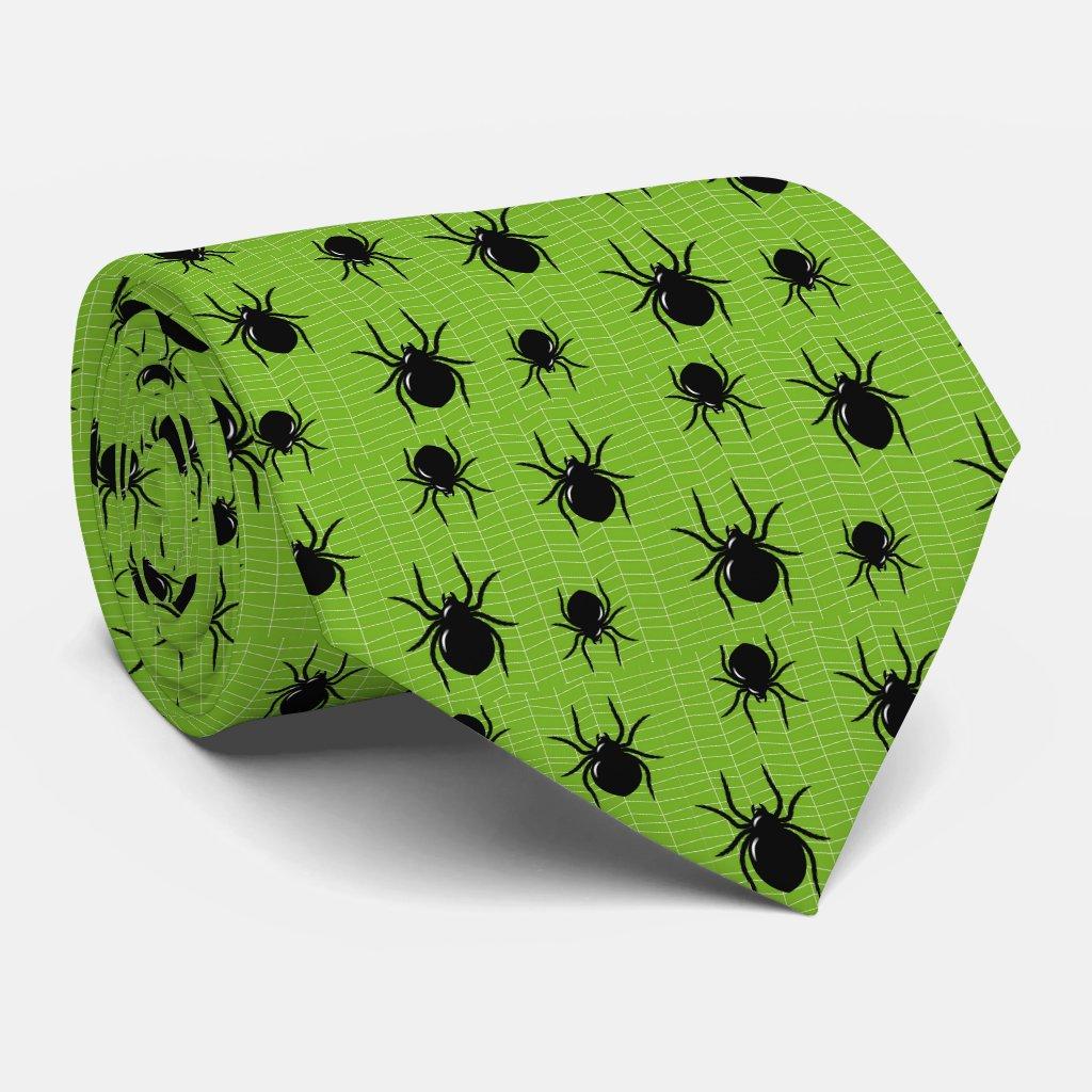 Green Spider Tie