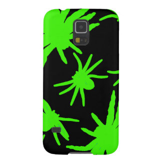 Green Spiders With Black Background Galaxy S5 Case