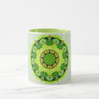 Green Spikey Succulant Fractal Mug