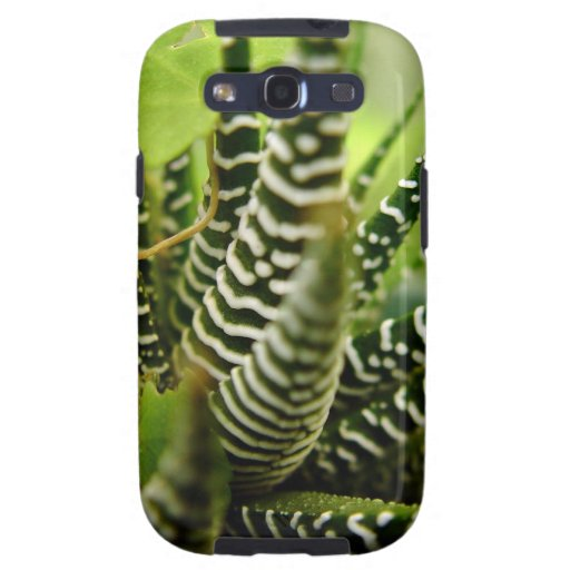 Green Spiky little striped cactus Galaxy SIII Case