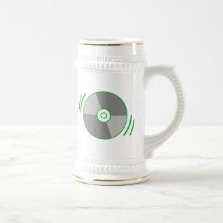 Green Spinning CD Beer Stein