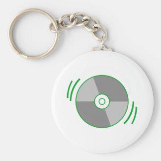 Green Spinning CD Key Chain