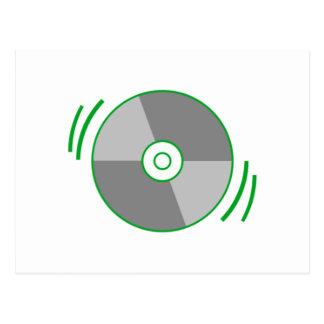 Green Spinning CD Postcard