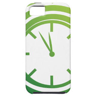 Green Spiral Arrow Spinning Clock Icon iPhone 5 Covers