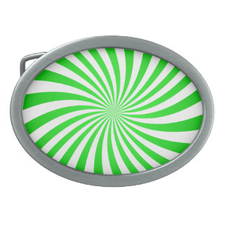 Green spiral oval belt buckles