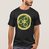 Green spiral disks Celtic t-shirts
