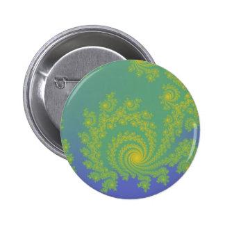 Green Spiral Fractal Pin