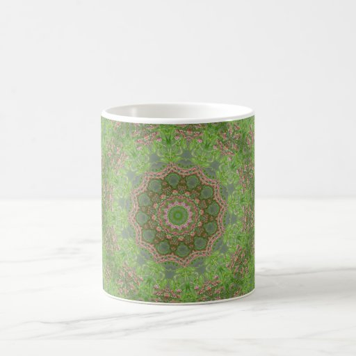 Green spiral fractal design coffee mug