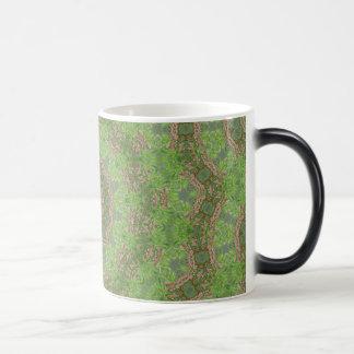 Green spiral fractal design magic mug