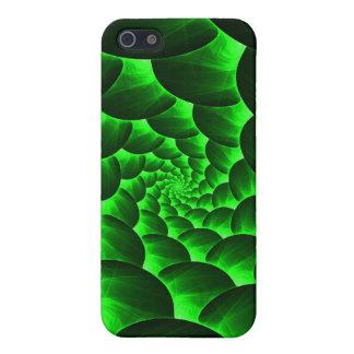 Green Spiral Fractal iPhone SE/5/5s Case